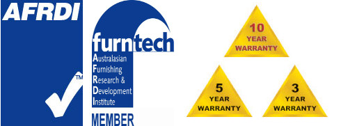 3, 5, 10 Year Warranty AFRDI, Furntech logo